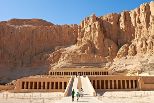 Temple between the Valley of Kings and the Valley of              Queens, Luxor, Egypt