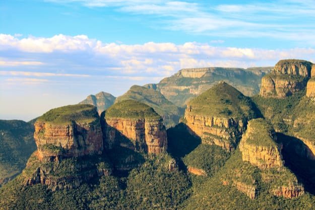 The Three Rondavels on Mpumalanga's Panorama Route give a spectacular view over the Blyde River Canyon