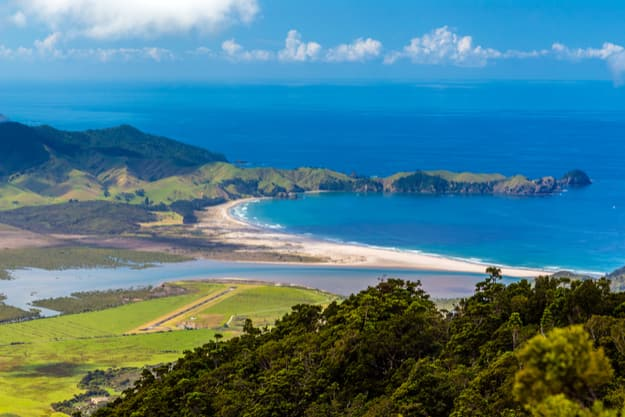 Whangapou beach, Great Barrier Island, New Zealand