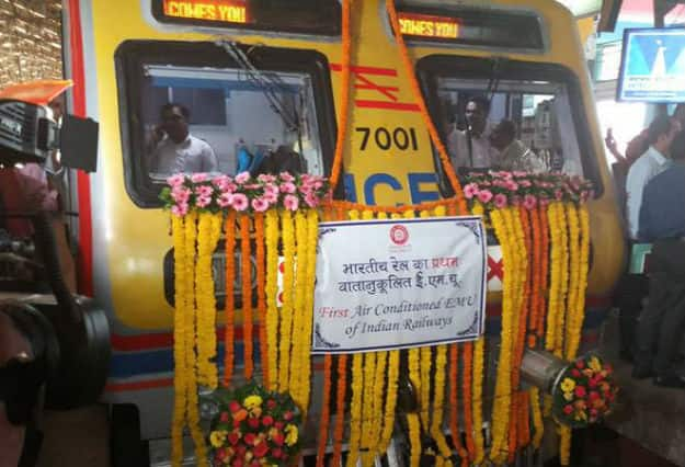 India's First Air-Conditioned Suburban Train To Ply In Mumbai