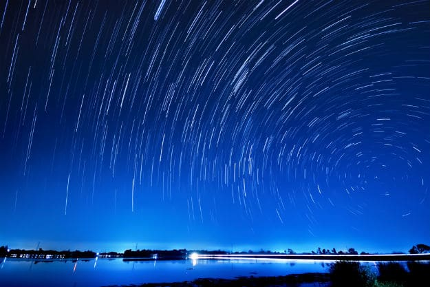 Geminid meteor shower display from December 13 midnight