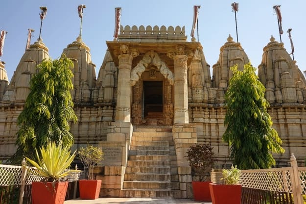 Hindu Jain Temple named Satris Deori built in 11th century in Fort Chittor, Chittorgarh city, Rajasthan, India