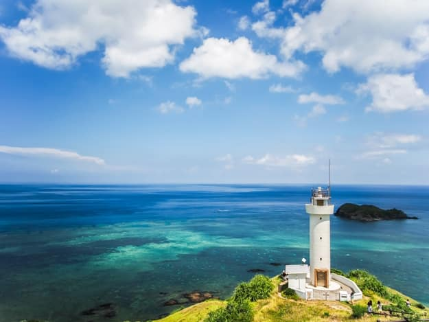 Hirakubosaki lighthouse of Ishigaki island in okinawa.