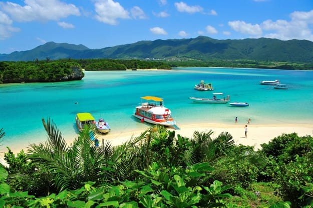 Kabira Bay which is located on the north coast of Ishigaki Island, Okinawa, Japan