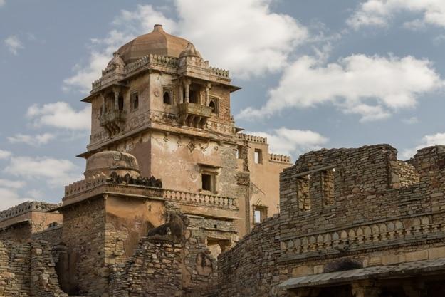 Maharana Kumbh Palace (Mahal) at Chittorgarh Fort, Chittorgarh, Rajasthan, India, Asia