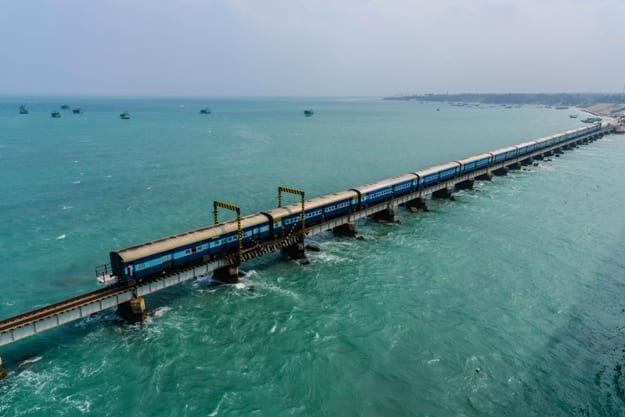 Pamban Bridge is a railway bridge which connects the town of Rameswaram on Pamban Island to mainland India