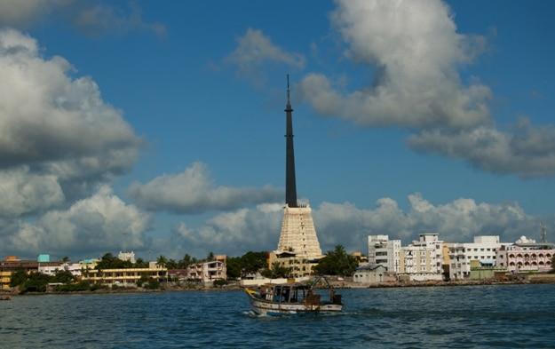 Ramanathaswamy temple, Rameswaram Beach Gate view from arabian sea
