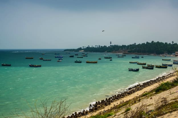 Rameswaram in the South Indian state of Tamil Nadu. It is located on Pamban Island separated from mainland India by the Pamban channel