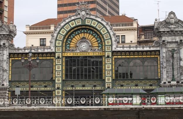 Santander train station located in Bilbao, Spain. June 29, 2017 in Bilbao, Spain