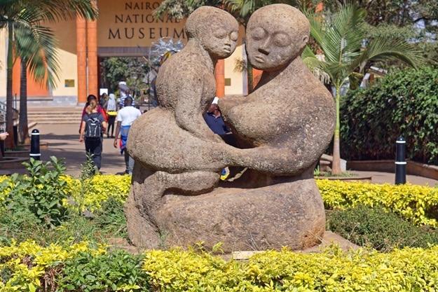 Sculpture in front of national museum Nairobi, Kenya