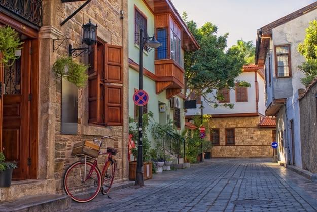 Streets of old town Kaleici - Antalya, Turkey