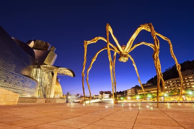 The Spider, sculpture of Louise Bourgeois in the Guggenheim Museum Bilbao
