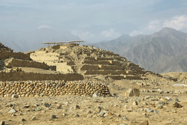 Caral, UNESCO world heritage site and the most ancient city in the Americas. Located in Supe valley, 200km north of Lima, Peru