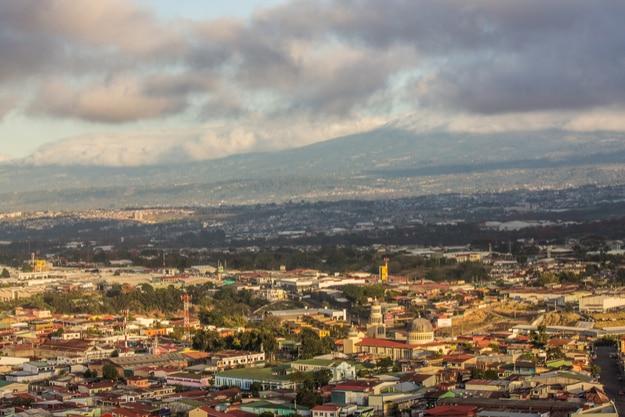 San José, Costa Rica at sunrise