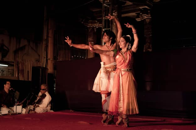 Dancers perform at the Mylapore Festival