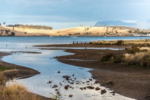 Scenic along the route on the east coast, Tasmania
