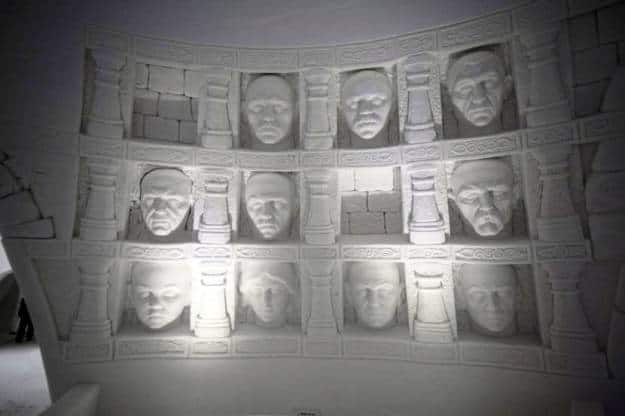 Hall of Faces at the hotel, Photograph Courtesy: Lapland Hotels SnowVillage