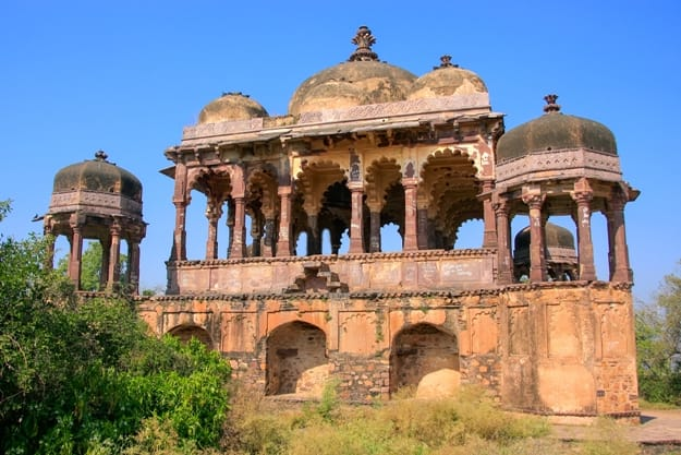 Arched temple at Ranthambore Fort, Rajasthan