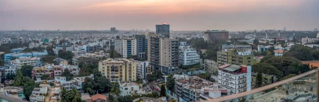 Aerial view of Bangalore city