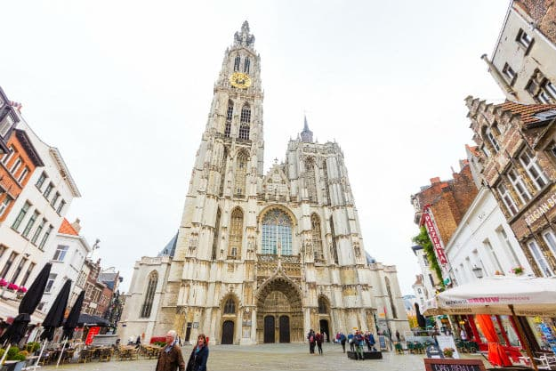 Cathedral Antwerp day time