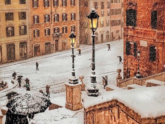 Rome under snow - Instagram