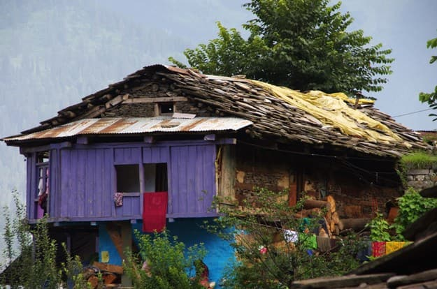 Traditional house in Old Manali in India