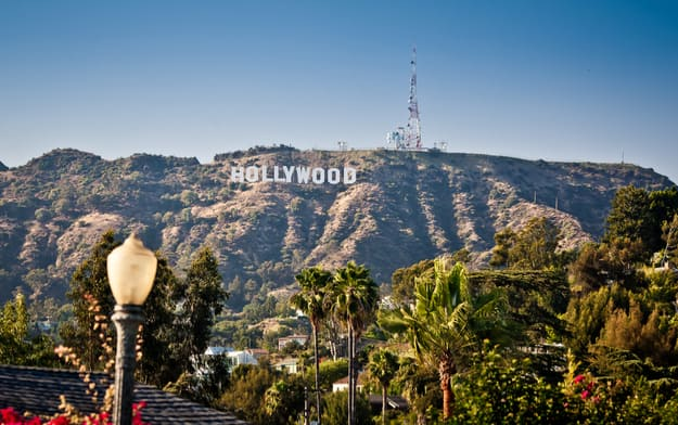View of Hollywood sign in Los Angeles