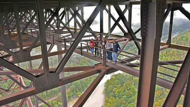 Walking tour and amazing views under the New River Gorge Bridge