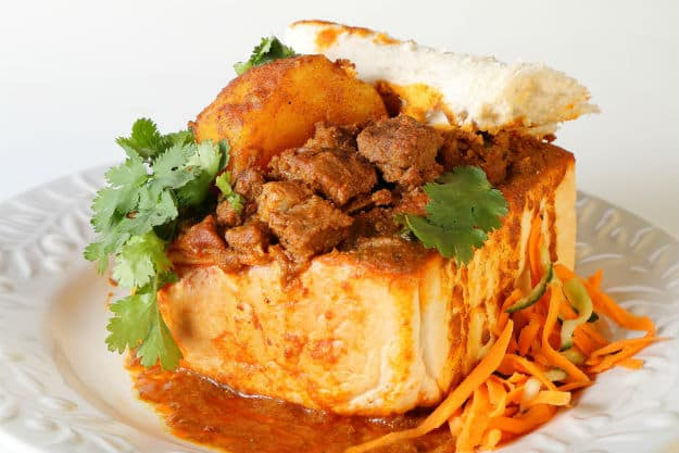 bunny chow photo - south africa