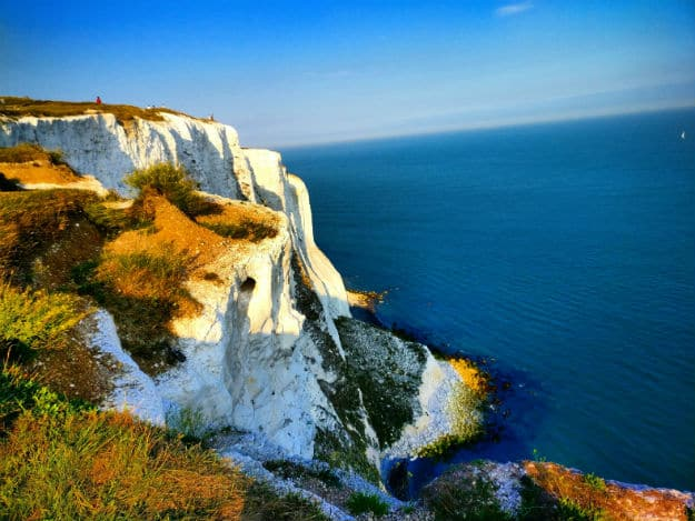 From the White Cliffs of Dover on the English Coastline