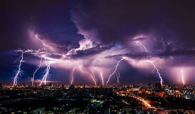 Thunderstorm in India