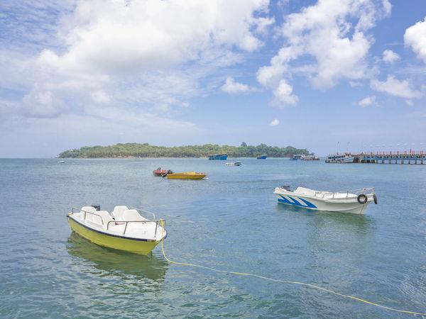 Jetties parked at Port Blair - Andaman and Nicobar Islands