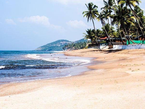 The famous Anjuna beach in Goa - Goa