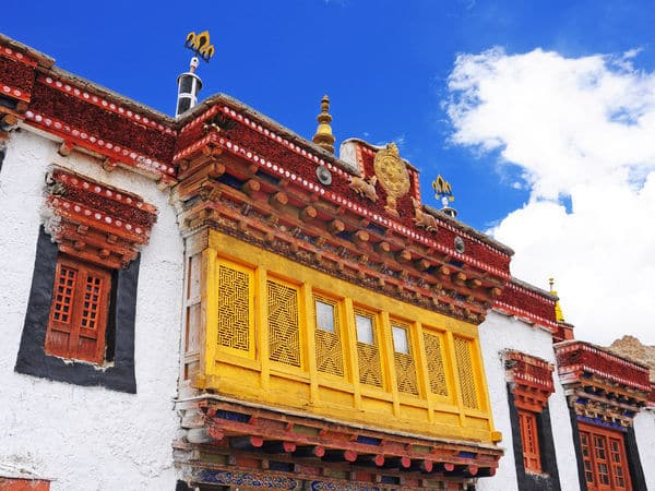 The likir monastery in Ladakh - Likir-gompa - Jammu-and-Kashmir