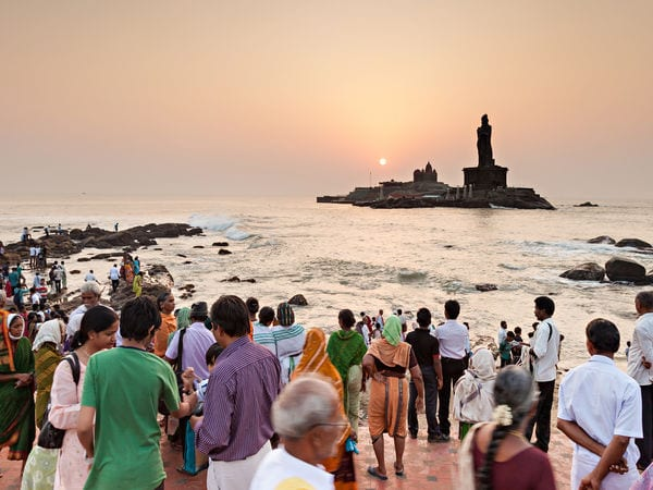 Vivekananda Rock Memorial and Thiruvallar Statue - Kanyakumari - Tamil-Nadu