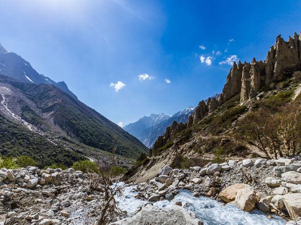 The Ganga River flowing through Gangotri Valley