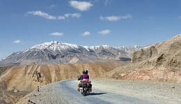 Motor biking in Leh