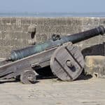 A canon in the Diu fort - Daman-and-Diu
