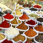 Anjuna flea market spices - Goa
