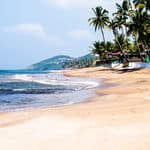The famous Anjuna beach in Goa - Goa