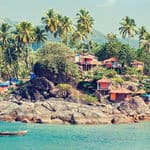 great view of shacks at Palolem beach in Goa - Goa