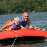 A father and son enjoy water sports in Goa - Goa