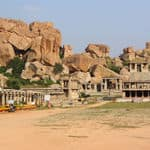 Ruins in Hampi in Karnataka - Hampi - Karnataka