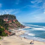 Top view of the Varkala beach - Varkala - Kerala