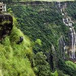 Seven sister waterfalls in Cherrapunjee - Seven-Sisters-Falls - Meghalaya