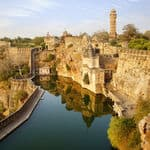 Picturesque panorama of Chittorgarh Fort - Chittorgarh-fort - Rajasthan