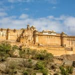 The huge historic fort of Amer - Jaipur - Rajasthan