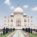 The great Mughal structure of Taj Mahal in Agra - Agra - Uttar-Pradesh