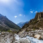 The Ganga River flowing through Gangotri Valley