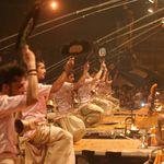 being performed at the ghat - Rishikesh - Uttarakhand
